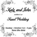 Wedding invitation card with flowers frame, for holidays, black and white