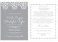 Wedding Invitation Card Invitation with ornaments Royalty Free Stock Photo