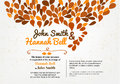 Wedding invitation card with ornament Stock Images