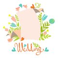 Wedding invitation card template Stock Images