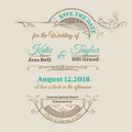 Wedding invitation card vintage frame theme Royalty Free Stock Photography