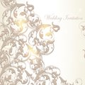 Wedding invitation card in vintage style Royalty Free Stock Photo