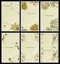 Wedding invitation cards Royalty Free Stock Photos
