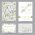 Wedding Invitation or Congratulation Card Set