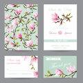 Wedding Invitation. Congratulation Card Set