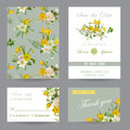 Wedding Invitation Congratulation Card Set. Save the Date