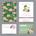 Wedding Invitation. Congratulation Card Set. Save the Date