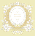 Wedding invitation or congratulation in gold color retro style Royalty Free Stock Images
