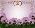 Wedding invitation Daisy Border Royalty Free Stock Image