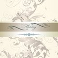 Wedding invitation design in classic style vector hand drawn floral Royalty Free Stock Photography