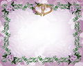 Wedding invitation Floral border lavender roses Royalty Free Stock Photo