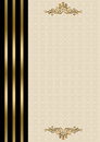 Wedding invitation gold and black border Royalty Free Stock Photography