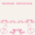 Wedding invitation an illustration of a background design with birds Stock Image
