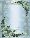 Wedding invitation Ivy floral border Royalty Free Stock Photo
