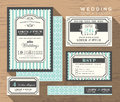 Wedding invitation set design Template Royalty Free Stock Photo