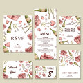 Wedding invitation template with individual concept. Design for invitation, thank you card, save the date card