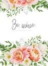 Wedding invite, invitation, greeting card, poster design. Garden Royalty Free Stock Photo
