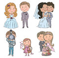 Wedding kids contains transparent objects eps Royalty Free Stock Photos