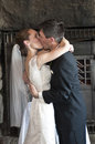 Wedding kiss Stock Image
