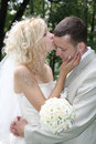 The wedding kiss Royalty Free Stock Photo