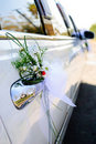 Wedding limousine Royalty Free Stock Photography