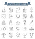 Wedding Line Icons Royalty Free Stock Photo