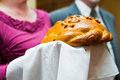 Wedding loaf bread salt russian tradition Royalty Free Stock Photography