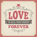 Wedding love forever typography vintage card background design poster from Royalty Free Stock Image