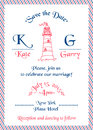 Wedding Marine Invitation Card Royalty Free Stock Photography