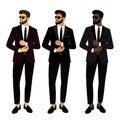 Wedding men`s suit and tuxedo. Collection. The groom. Gentleman. Royalty Free Stock Photo