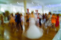 Wedding motion blur crowd people on the abstract colors in Royalty Free Stock Images