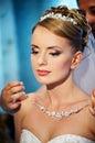 Wedding necklaces Brides Royalty Free Stock Photo