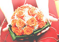 Wedding orange bouquet in old style Royalty Free Stock Photo
