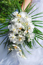 Wedding orchid bouquet Stock Photography