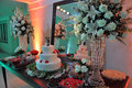Wedding party catering the in a with cakes and other desserts Stock Images