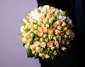 Wedding peach-coloured bouquet Royalty Free Stock Photography