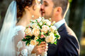 Wedding photo,  happy bride and groom together Royalty Free Stock Photo