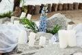 Wedding photo zone decoration in provence style Royalty Free Stock Photos