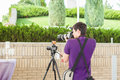 Wedding photographer in action Royalty Free Stock Photo