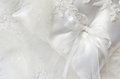 Wedding pillow and feathers white swan Stock Image