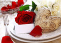 Wedding Place Setting Royalty Free Stock Image