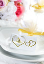 Wedding place setting Royalty Free Stock Images