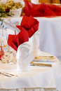 Wedding place setting Stock Photos