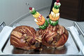 Wedding pork smoked ham from a pig Royalty Free Stock Photos