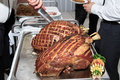 Wedding pork smoked ham from a pig Royalty Free Stock Images