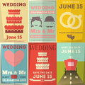 Wedding Posters Set Stock Photo