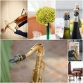 Wedding reception music collage - violin, sax and grand piano. Royalty Free Stock Photo