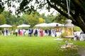 Wedding reception outdoor Royalty Free Stock Photo