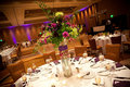 Wedding reception tables Stock Photo