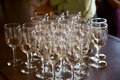 Wedding Reception Wine Glasses Royalty Free Stock Photos